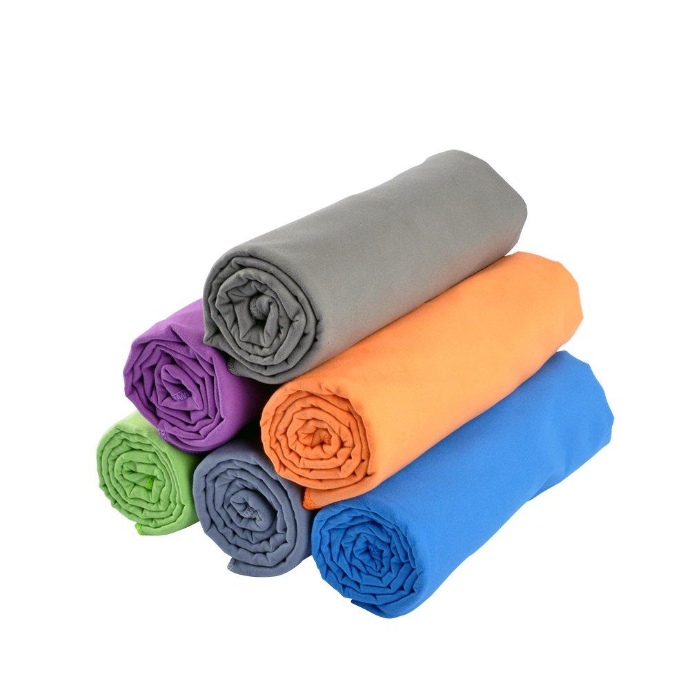 RainLeaf Microfiber Towel, 24 X 48 Inches. Blue. Rainleaf Inc.