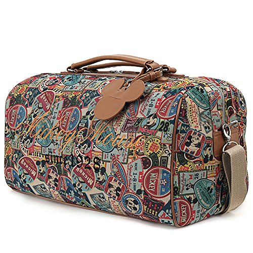 Classical Bridal Floral Motif Large Weekender Carry-on Ambesonne Retro Gym Bag
