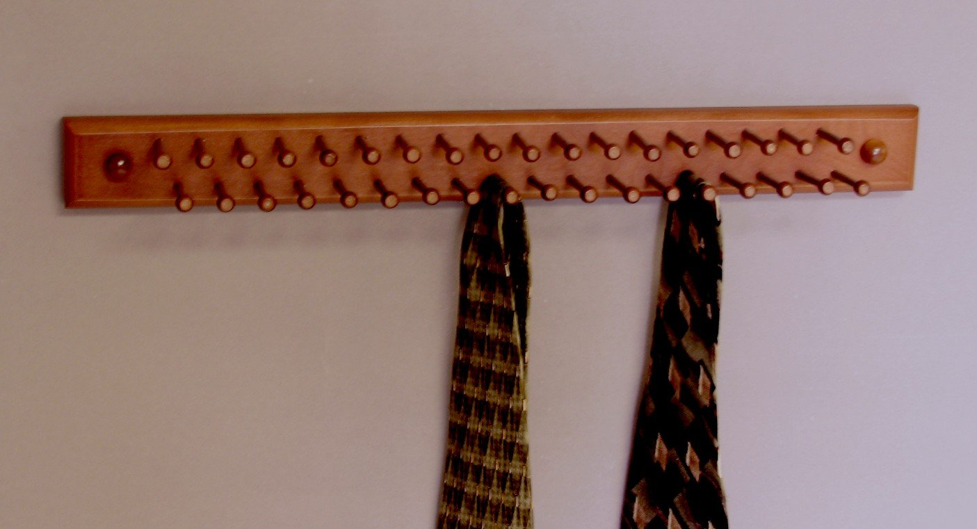 Amazon.com: Tie/Necklace Rack, Mahogany MADE IN USA: Home & Kitchen