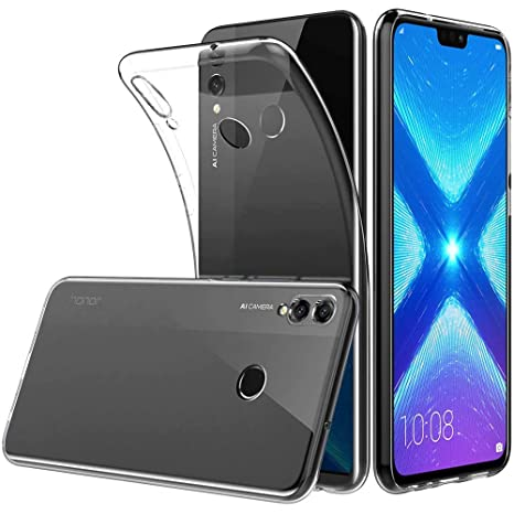 Huawei Honor 8X Funda,Superyong Huawei Honor 8X Funda Slim Clear Soft TPU para teléfono