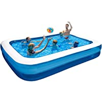 Lovinouse Inflatable Swimming Pools, 103 x 69 x 20 Inch, Family Lounge Kiddle Swim Center for Kids, Adults, Babies…