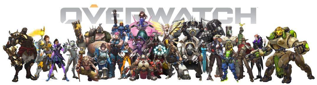 Amazoncom Jinjing Prints Overwatch All Heroes 52inch X