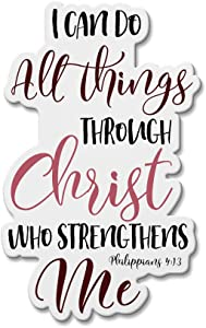 WIRESTER Fridge Magnet Decoration for Kitchen Refrigerator, Christian Bible Verses Philippians 4:13