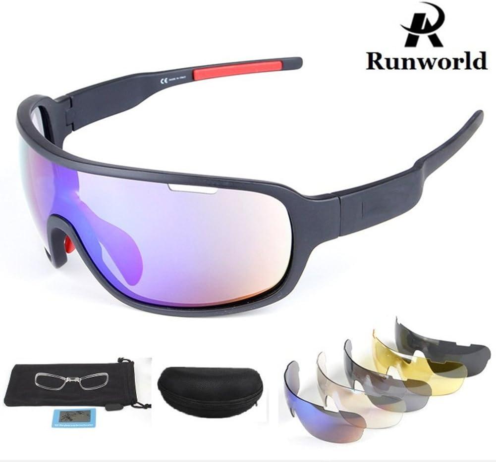 Amazon.com: Runworld Sports Sunglasses for Men Women with 5 Interchangeable  Lenses Outdoor Sport MTB Cycling Running Driving Baseball Glasses Eyewear  UV Protection (Black): Sports & Outdoors
