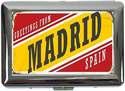 Cigarette Case Box Travel Kitchen Madrid Spain Print Amazon De Kuche Haushalt