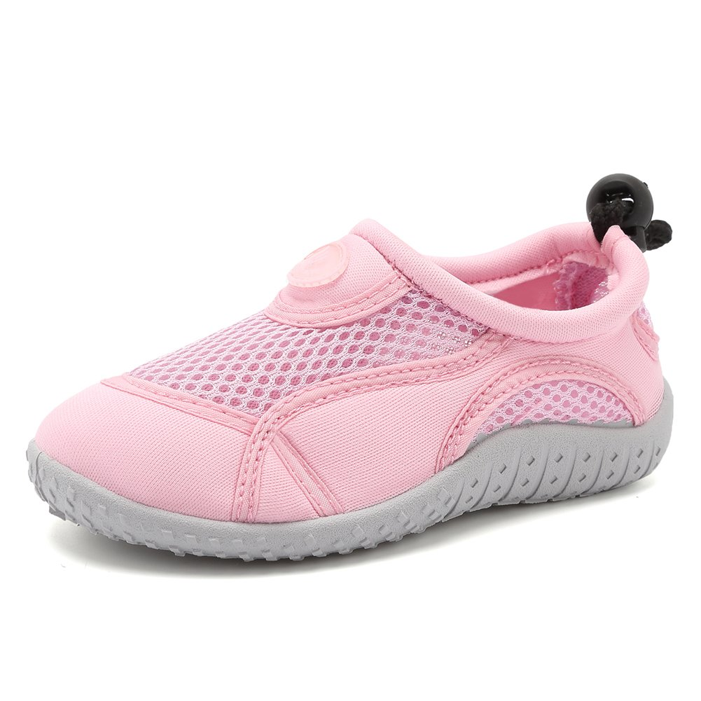 Fanture Toddlers Water Shoes Aqua Socks Athletic Swim Pool Beach Sports Quick Drying for Baby Boys and Girls(Toddler/Little Kid/Big Kid),U417SSX002,01light Pink,25