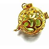 【バリ島より無料で郵送】【大特価】[K24RGP]バリ島の神様「OM(オーム)」のオープンタイプの純金コーティングのゴールドGOLDペンダント(フローライト)