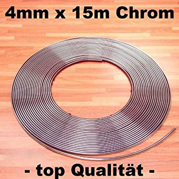 selbstklebend universal Auto Chromleiste 1m=1,00/€ Chrom Zier Leiste 4mm x 15m