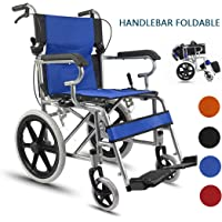 """Ultra Lightweight Wheelchair Drive Medical Self-Propelled Wheelchair with Flip Foldable Handle Arms, Swing Away Footrests Mobility Transport Chair, 19"""" Seat"""