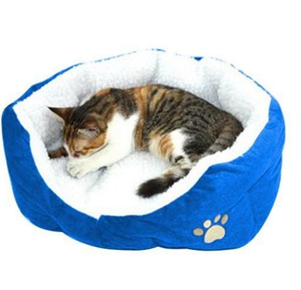 Beauty DIY Mart Nido Cama de Mascotas, Pequena Casa Caliente Suave de Algodon para Perros Gatos Cachorros Conejos,Azul: Amazon.es: Productos para mascotas