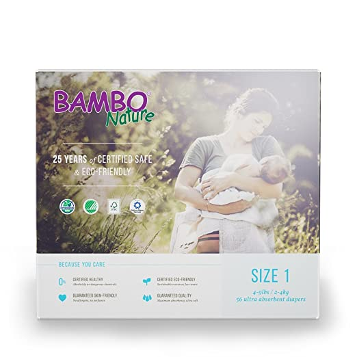 Bambo Nature Diapers - Size 1 - 56 ct