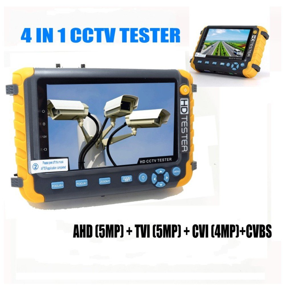 Pomiacam 5 Inch TFT LCD 4-in-1 CCTV Tester 5MP AHD TVI 4MP CVI CVBS Security Camera Tester Coaxial HD Video Monitor Support PTZ Controller/UTP Cable Test/VGA HDMI Input/DC12V Output by POMIACAM (Image #2)