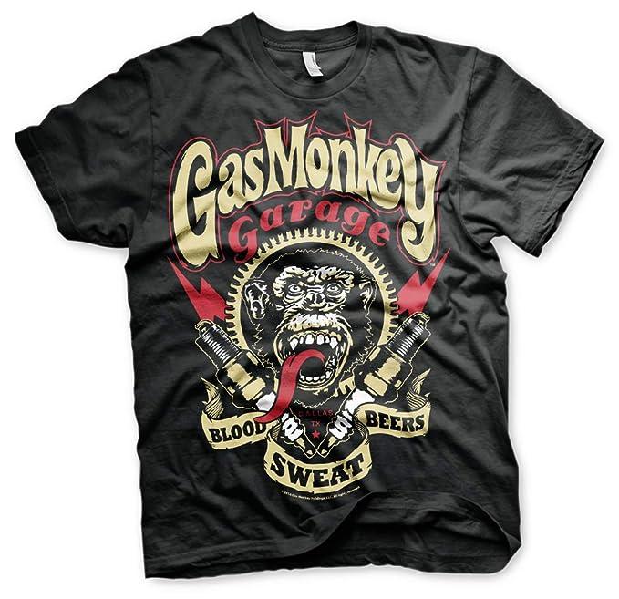 Gas Monkey Garage Skull Custom Builds Licensed Fast N Loud Black Mens T-shirt