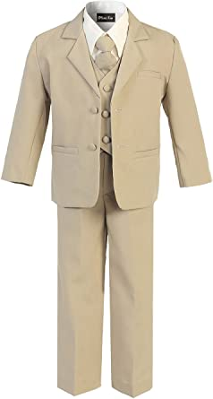 OLIVIA KOO Boys Classic 2 Button Suit with Cloth Cover Buttons