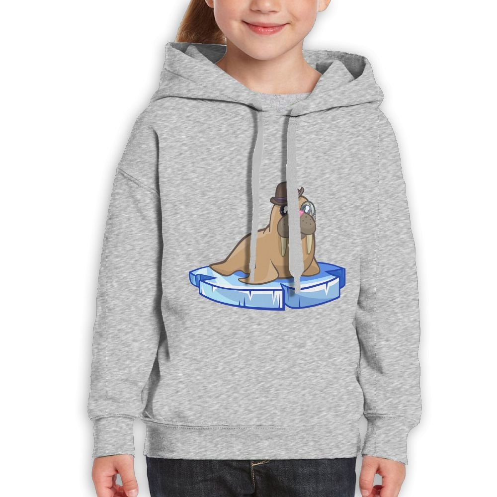 GLSEY Sea Lions Wear Glasses Youth Soft Casual Long-Sleeved Hoodies Sweatshirts by GLSEY