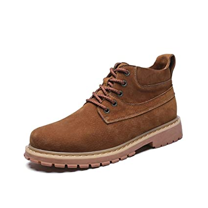 501a6e6741ce Zaqxs Mens Womens Chukka Ankle Boots Lace Up Fashion Waterproof Anti-Slip  Outdoor Work Hiking