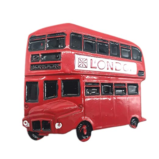 Weekinglo Souvenir Autobús Rojo Londres Reino Unido Imán de Nevera ...