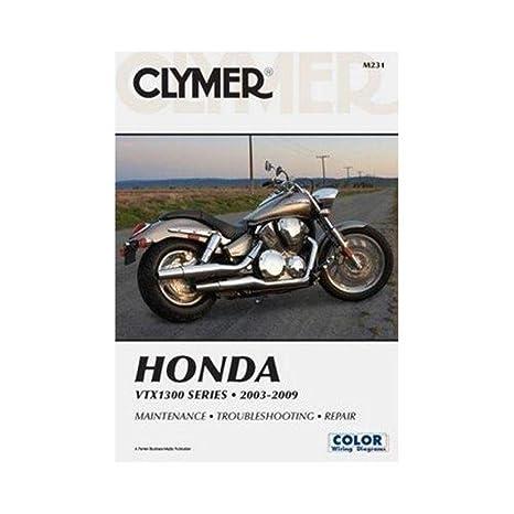 amazon com: clymer repair manual for honda vtx1300 c/r/s/t 03-09: automotive