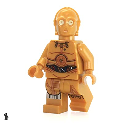 LEGO Star Wars C-3PO MiniFigure (Colorful Wires) 75136: Toys & Games