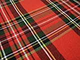 rt-e102n8 Bardwil Linens Timely Tartan Red SET 60 x 102 Tablecloth & 8 Dinner Napkins Royal Stewart Plaid