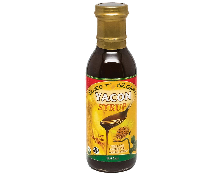 Organic Yacon Syrup: 100% Organic (11.5oz) Peruvian Premium Grade - Low Glycemic - Natural Sweetener - Certified Organic - Kosher - Vegan - Gluten Free - Keto Friendly - Sugar Alternative by ATL