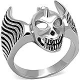 ISADY - Fynn - Men's Ring - stainless steel - Email Black - Skull