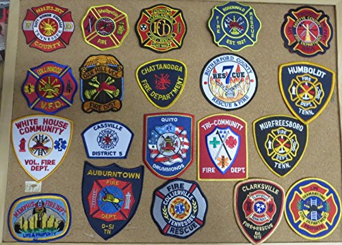 TENNESSEE FIRE/RESCUE DEPARTMENT PATCHES! SET ONE! LOT OF 20!