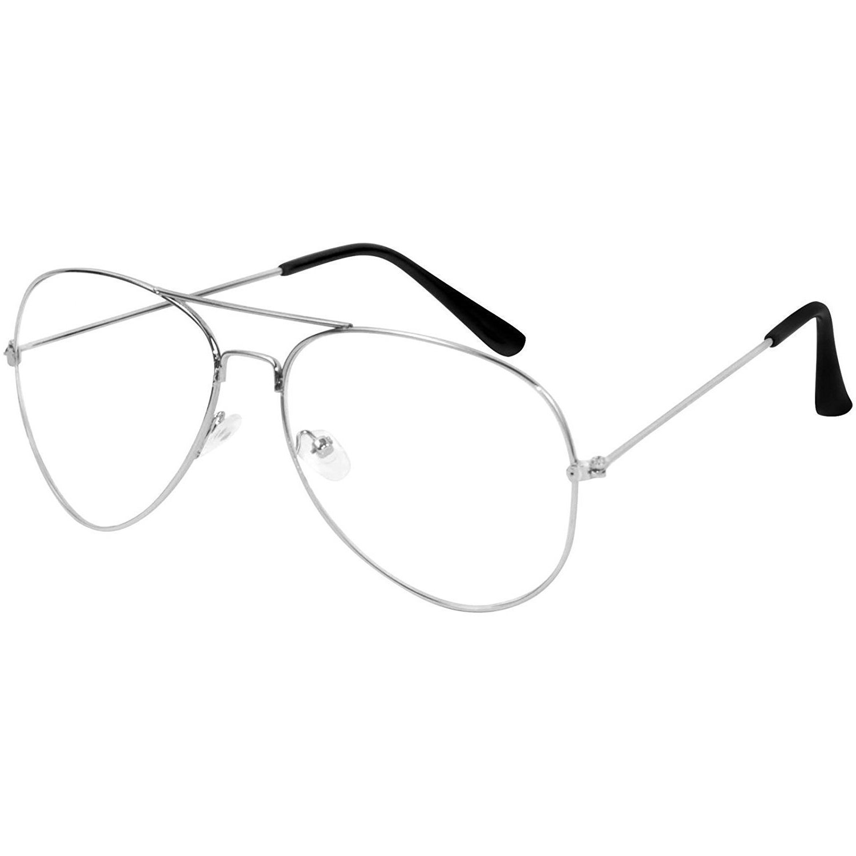 Y&S Fashion Aviator Unisex Eyeframe (Clear_ Transparent Aviator)
