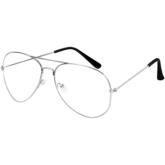 93948ba6dc85 Y S Fashion Aviator Unisex Eyeframe (Clear  Transparent Aviator)   Amazon.in  Clothing   Accessories