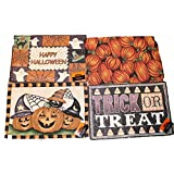 Set of 4 Halloween Placemats - Tapestry Style Designs - Comes in An Organza Bag
