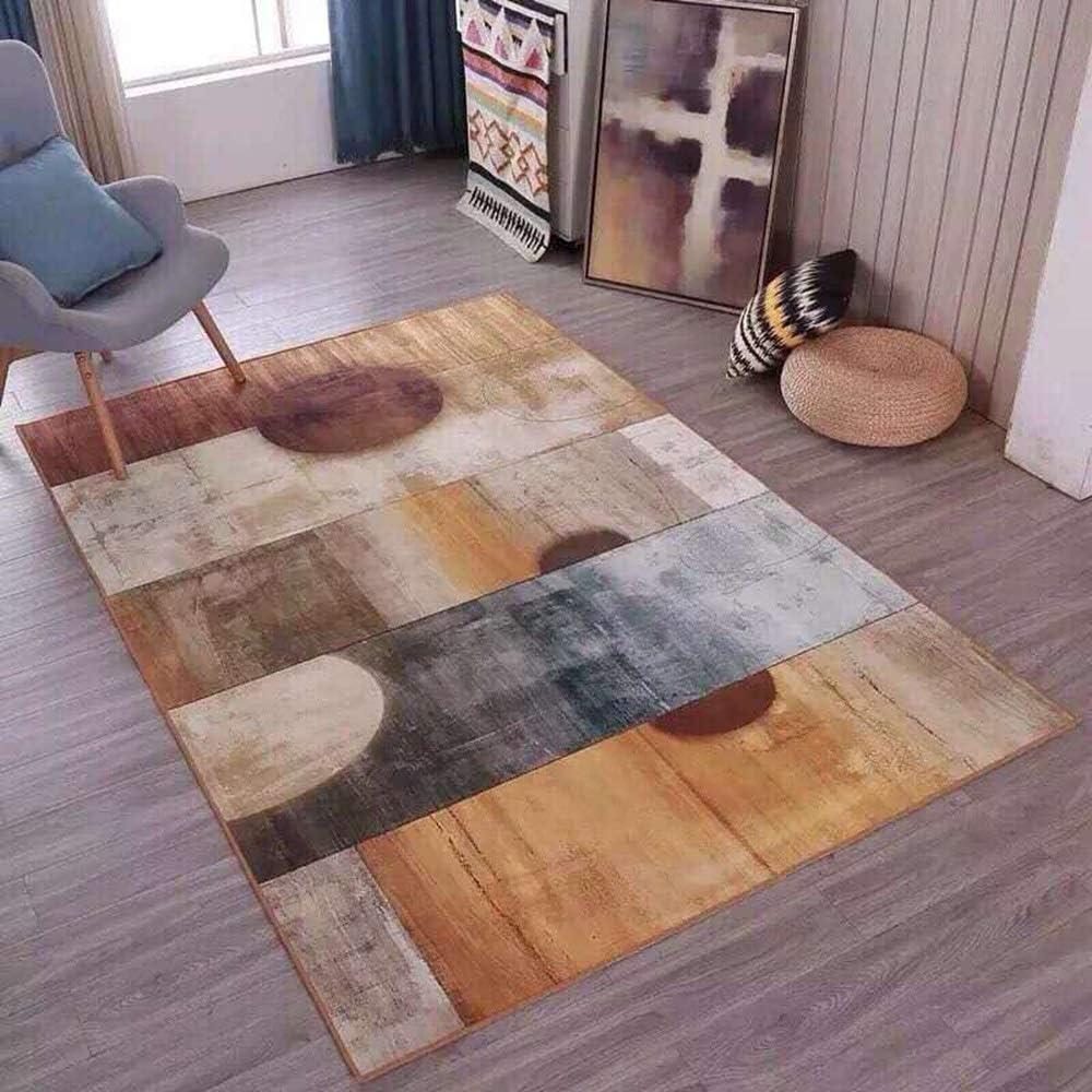 抽象的なスタイルのパターン、北欧のカーペットの居間のコーヒーテーブルの寝室のベッドサイドクリスタルのベルベットのカーペット、居間の研究の寝室のために適した長方形の滑り止めのカーペット 清潔できれい (Size : 140*200cm)
