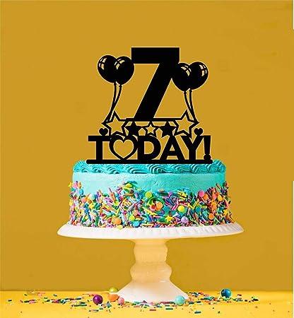 Wondrous Amazon Com 7Th Birthday Cake Topper 7 Years Old Seventh Toys Funny Birthday Cards Online Hetedamsfinfo
