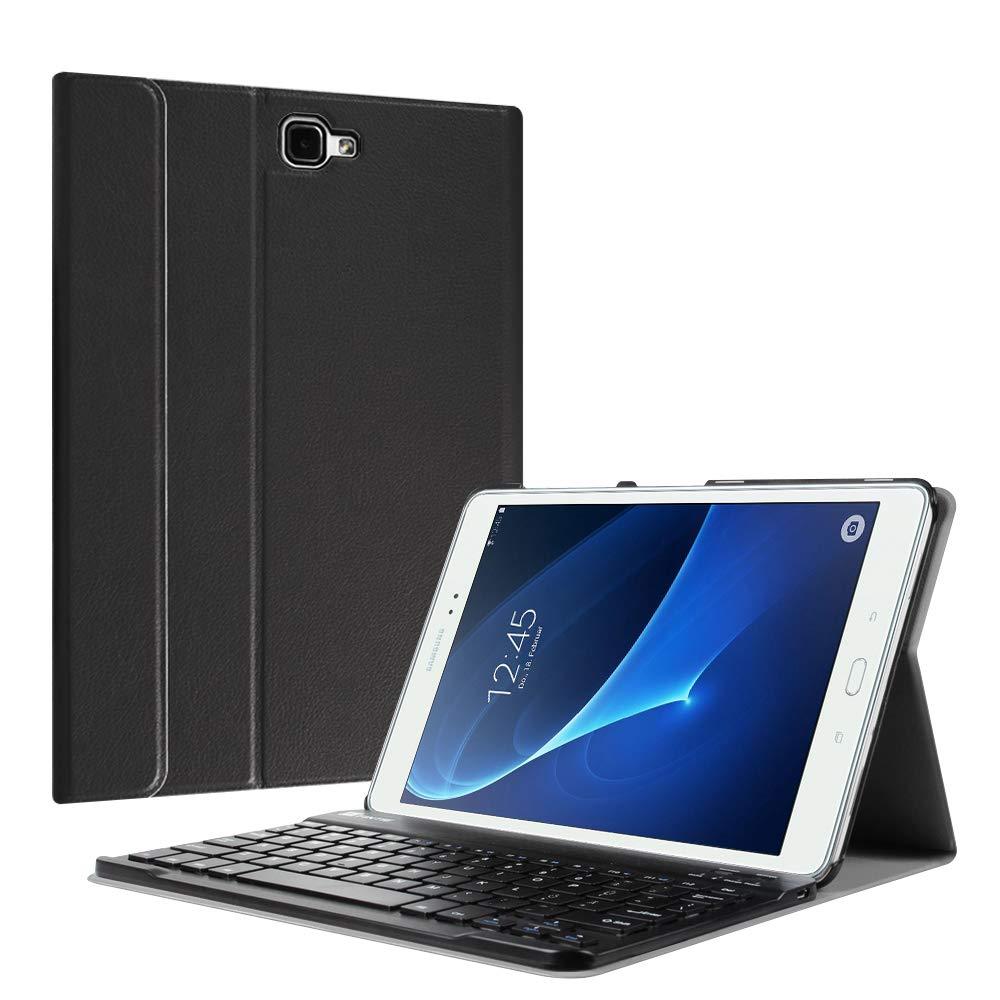 FINTIE Leng/üeta con funda de teclado bluetooth para alaxy tab s2 9.7/ Galaxy Tab 9.7 S2 1 Negro