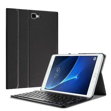 Fintie Bluetooth Tastatur Hülle für Samsung Galaxy Tab A 10,1 Zoll T580N / T585N Tablet - Ultradünn leicht Schutzhülle mit ma