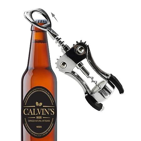 Sufus wing corkscrew red wine beer bottle opener best luxury waiter corkscrew and wine stopper amazon co uk kitchen home