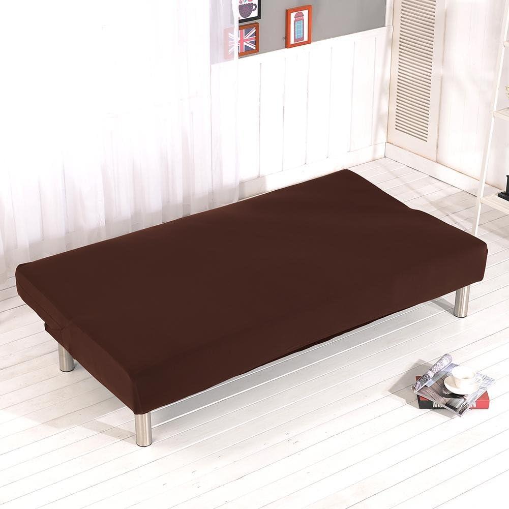in poliestere e spandex adatto per divano letto pieghevole senza braccioli Caff elasticizzato pieghevole Copridivano senza braccioli a 3 posti