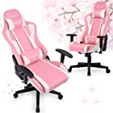 GTRACING Gaming Chair with Speakers Pink Cherry