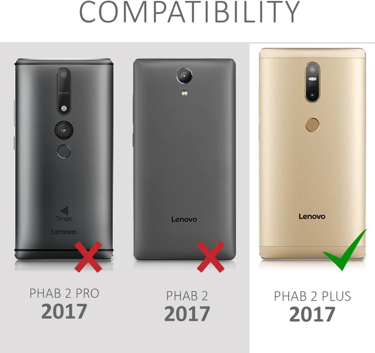 kwmobile Funda movil Compatible con Lenovo Phab2 Plus: Amazon.es ...