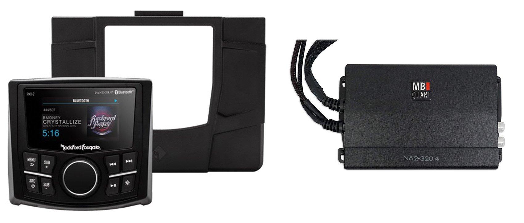 Rockford Fosgate Polaris RZR-STAGE1 Digital Media Receiver+Dash Kit+Free Amp by Rockford Fosgate
