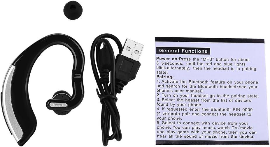 Zer one V18 Touch Control Wireless Bluetooth Earpiece, HD Stereo Bluetooth Earpiece Noise Canceling V4.0 Bluetooth Headphones for Business Sport Ear Hook(Black)