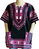 Ornatcha Pha Fai Brand New African Dashiki,Unisex,Cotton Black Shirt