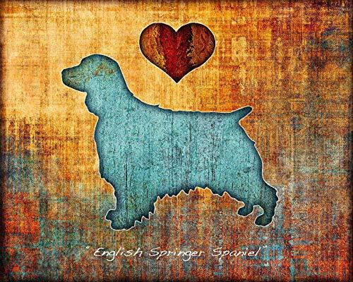 English Springer Spaniel Dog Breed Art Print by Dan Morris Dog Breeds Springer Spaniel