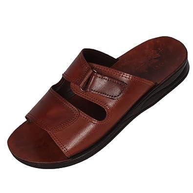 Brown Genuine Leather Roman Jesus Sandals #209 sizes US Womens 6-14 EU 36-46 (US Womens 9 EU 40)