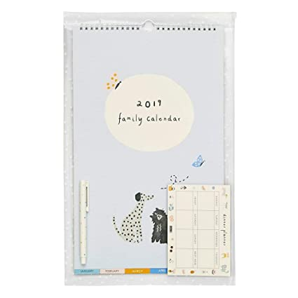 Amazon.com : kikki.K 2019 Family Calendar Small Pack ...