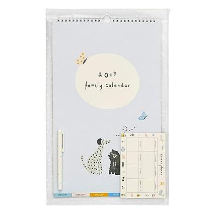 Amazon.com : kikki.K 2019 Family Calendar Small Pack ...
