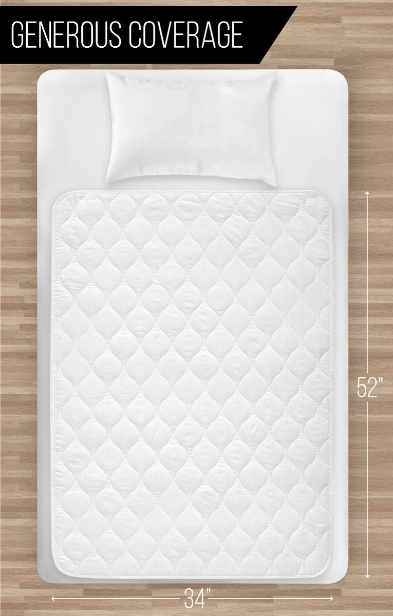 "34 Best Waterproof Blinds Images On Pinterest: Waterproof Mattress Bed Wetting Sheet Protector 34"" X 52"
