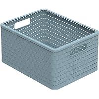 Rotho Eco Country Opbergbox 18 l, kunststof (PP), blauw, 18 liter (36,8 x 27,8 x 19,1 cm)