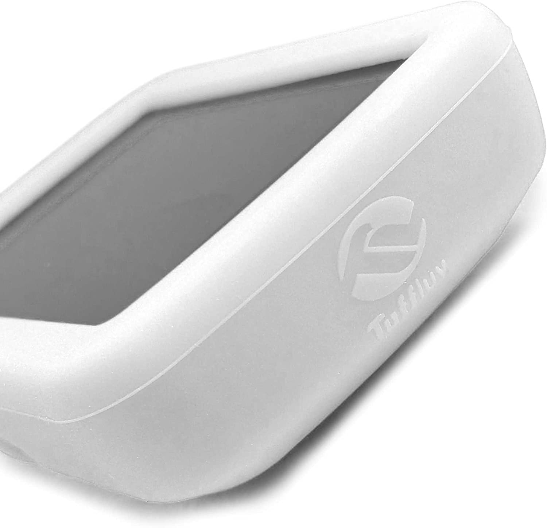 Tuff-Luv Custodia Silicone Gel Skin per Garmin Edge Explore 820 Bianco