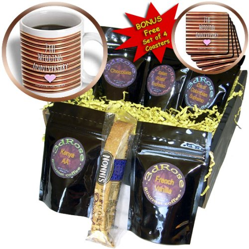 InspirationzStore Occasions - 7th Wedding Anniversary gift - Copper celebrating 7 years together - seventh anniversaries seven - Coffee Gift Baskets - Coffee Gift Basket (cgb_154436_1)