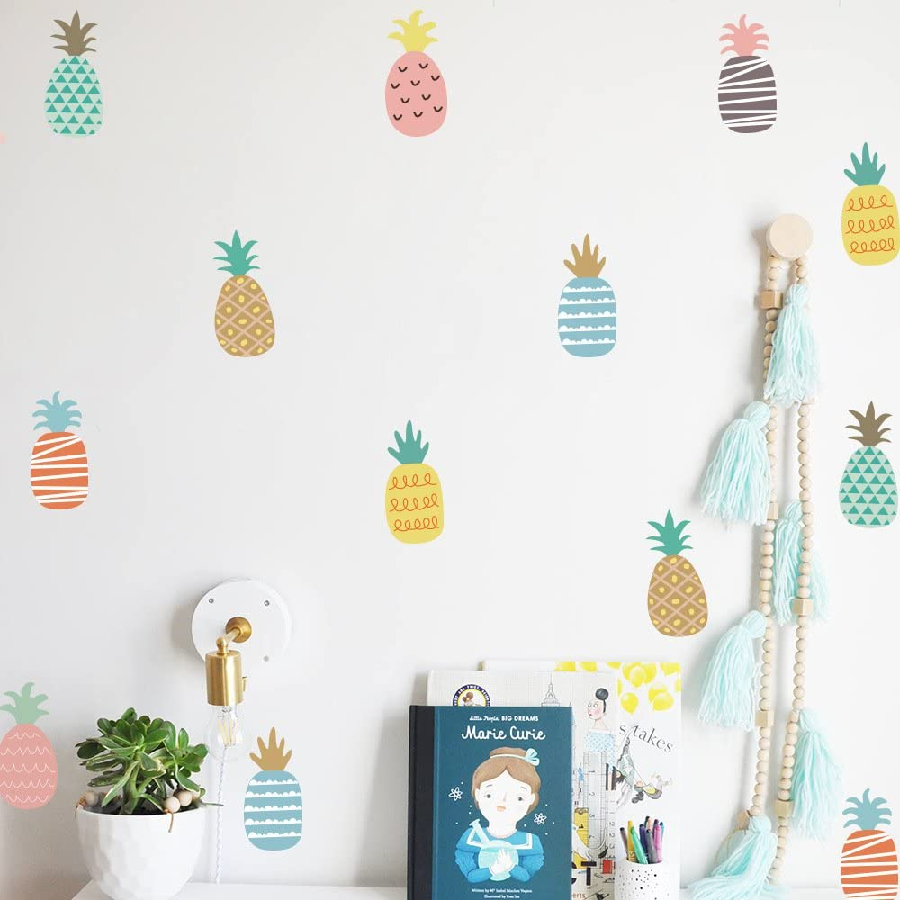 Wall Stickers Baby Rooms DIY Children Mural Wall Art Decor for Kids Bedroom Wall Decals (Pineapple)
